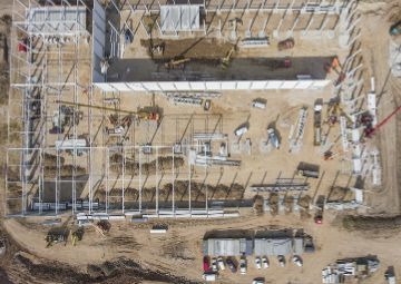 Aerial Construction Imagery in Midland Odessa Texas